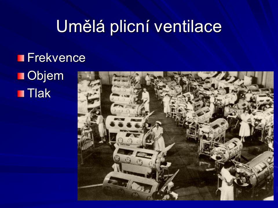 Umělá plicní ventilace FrekvenceObjemTlak