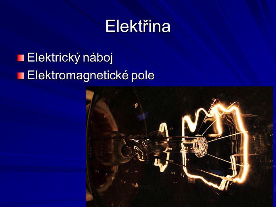 Elektřina Elektrický náboj Elektromagnetické pole