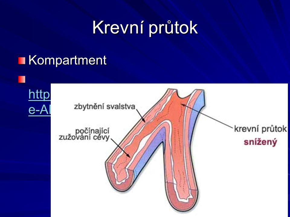 Krevní průtok Kompartment http://www.youtube.com/watch?v=PgI80U e-AMo&NR=1 http://www.youtube.com/watch?v=PgI80U e-AMo&NR=1 http://www.youtube.com/wat