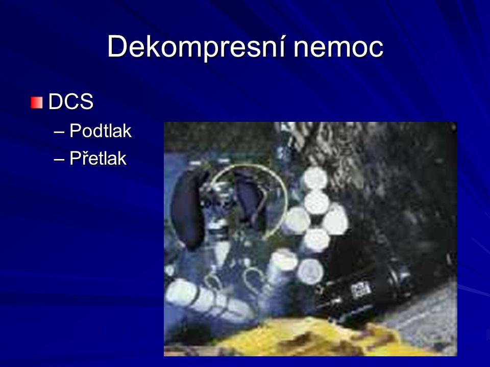 Dekompresní nemoc DCS –Podtlak –Přetlak