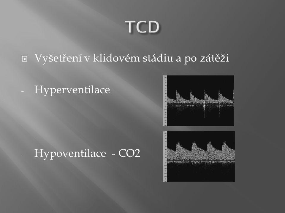 Vyšetření v klidovém stádiu a po zátěži - Hyperventilace - Hypoventilace - CO2
