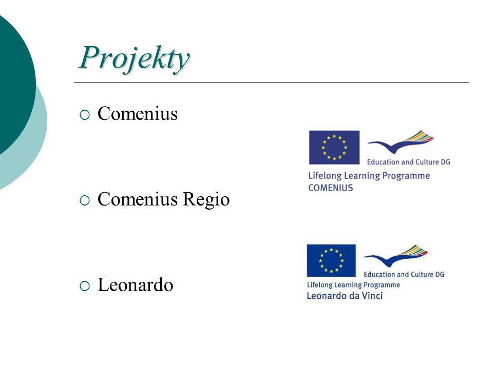 Projekty  Comenius  Comenius Regio  Leonardo