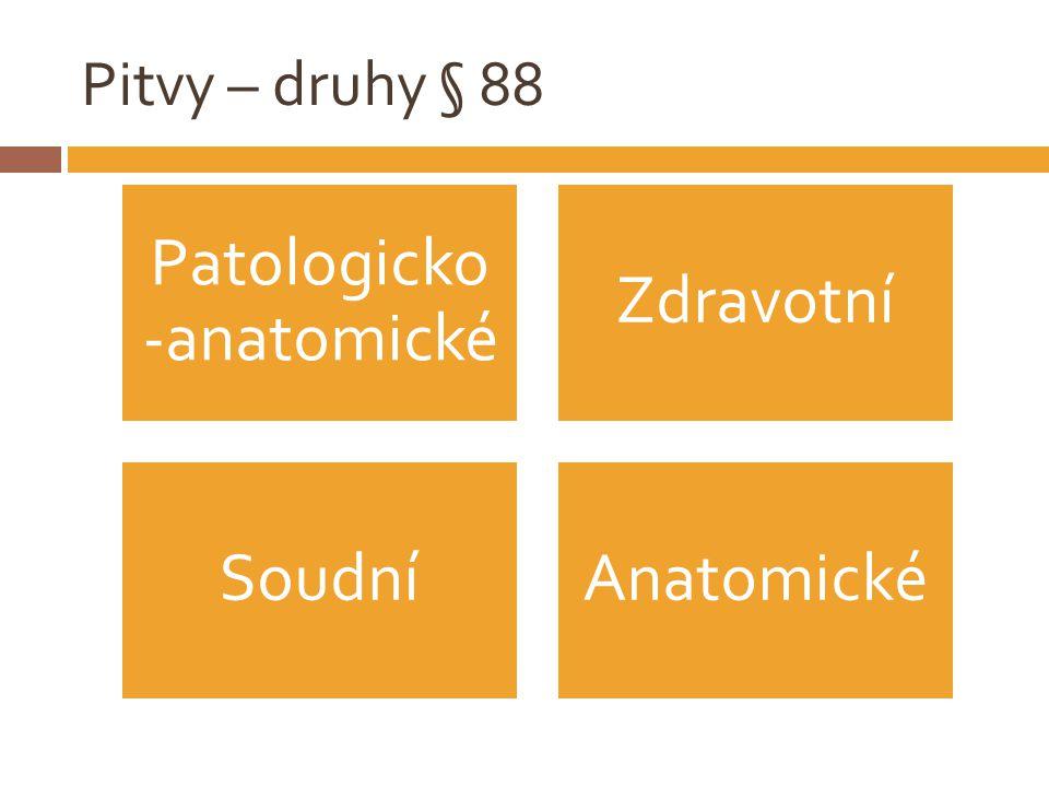 Pitvy – druhy § 88 Patologicko -anatomické Zdravotní SoudníAnatomické