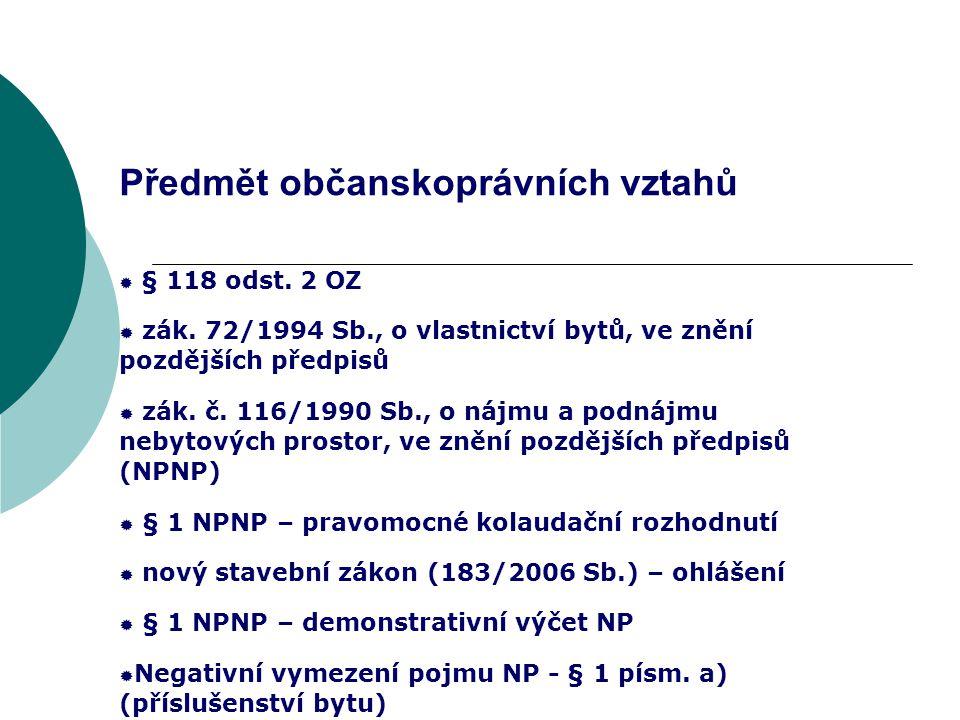 Změny na věci (667 OZ) a změny v předmětu podnikání (§ 5 odst.