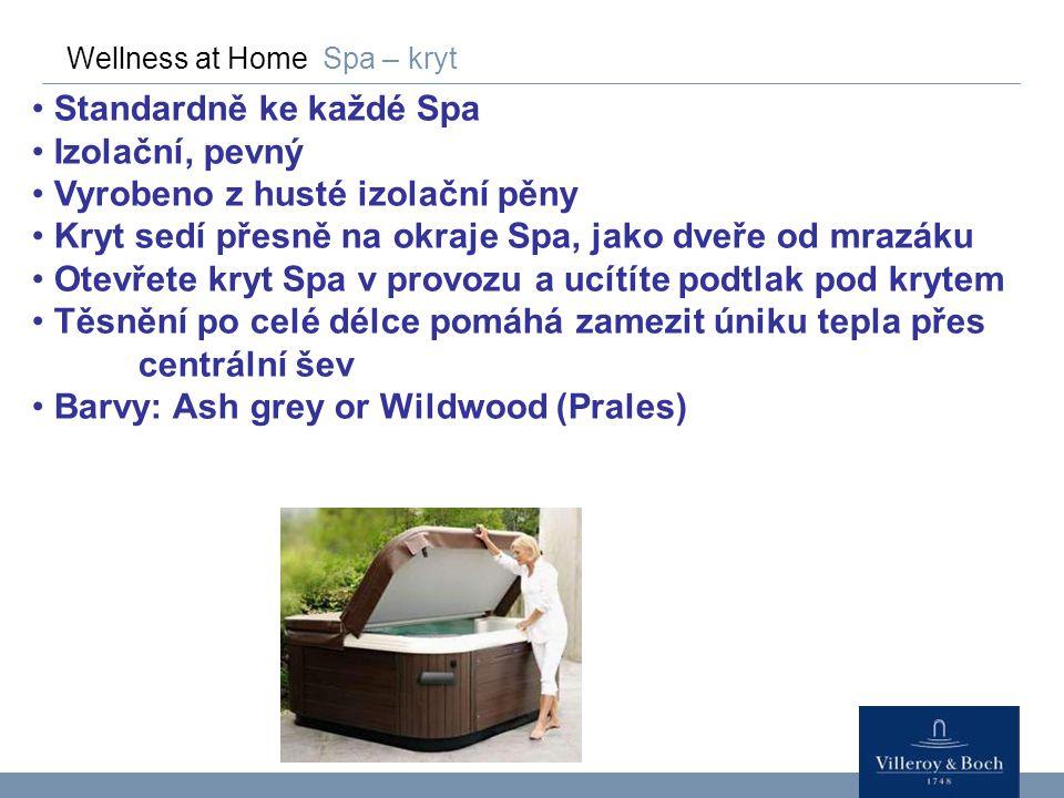 Wellness at Home Spa – kryt Standardně ke každé Spa Izolační, pevný Vyrobeno z husté izolační pěny Kryt sedí přesně na okraje Spa, jako dveře od mrazá