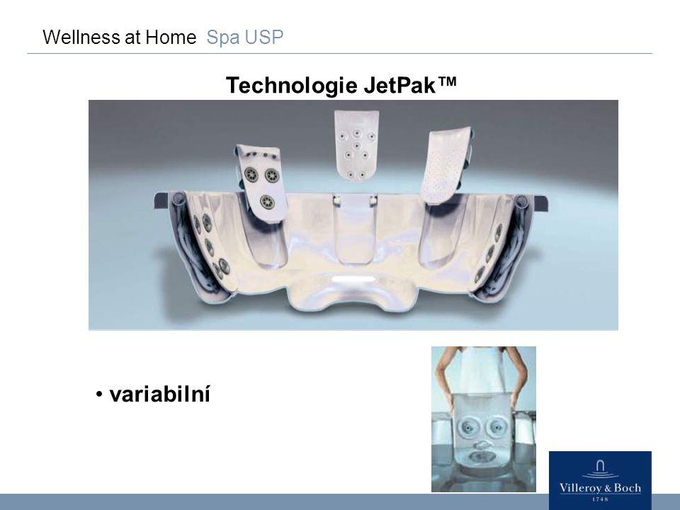 Wellness at Home Spa USP Technologie JetPak™ unikátní patentováno, nejlepší technologie v odvětví Rozdíl!!.