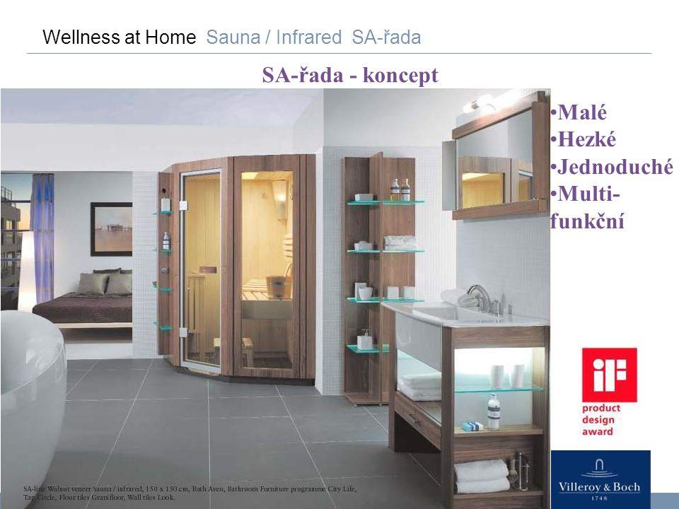 74 Wellness at Home Sauna / Infrared SA-řada SA-řada - koncept Malé Hezké Jednoduché Multi- funkční