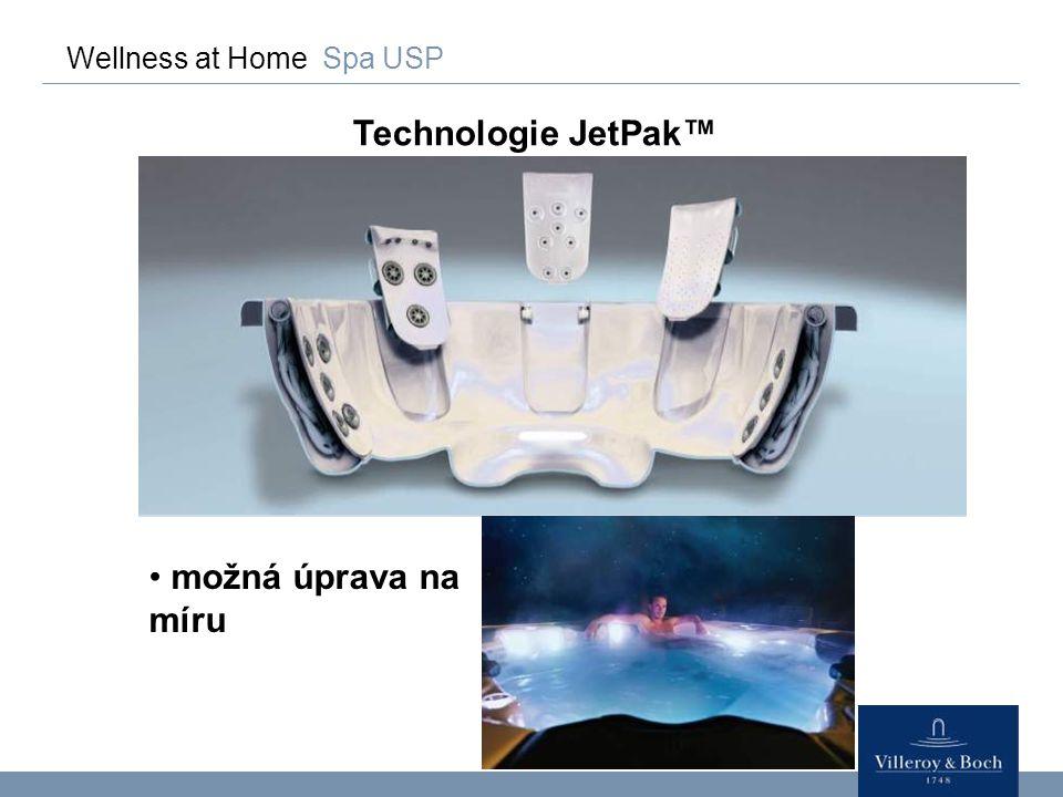 Wellness at Home Spa USP Technologie JetPak™ jednoduchá obsluha