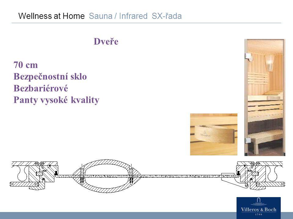 Wellness at Home Sauna / Infrared SX-řada Dveře 70 cm Bezpečnostní sklo Bezbariérové Panty vysoké kvality