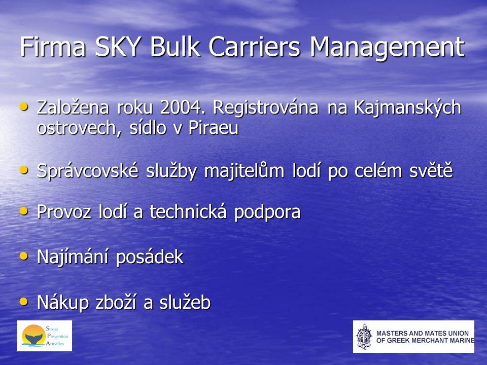 Firma SKY Bulk Carriers Management Založena roku 2004.