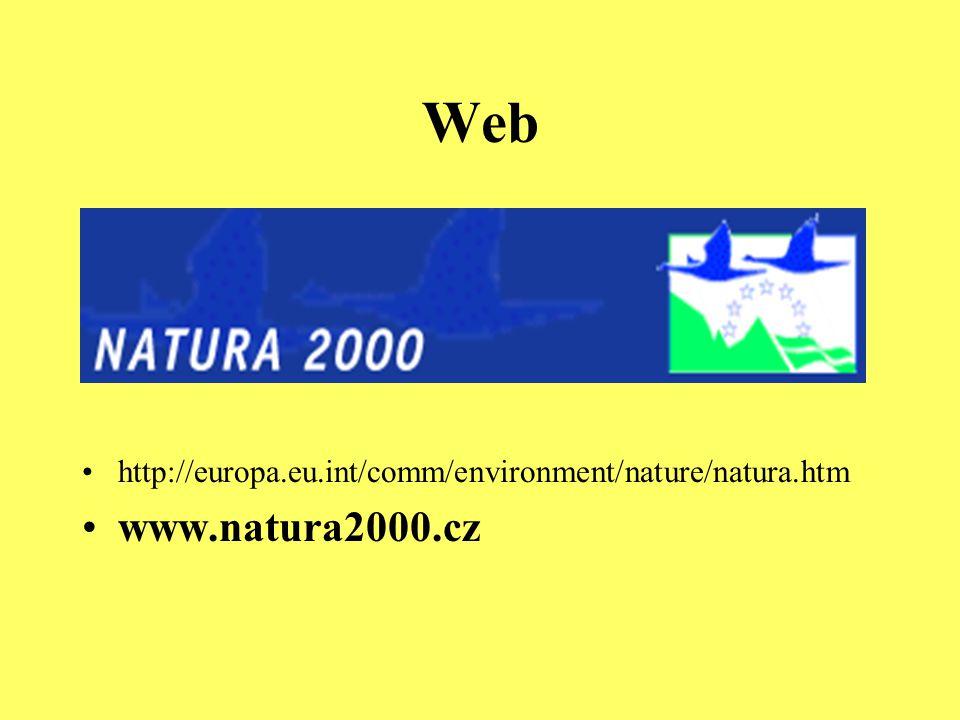 Web http://europa.eu.int/comm/environment/nature/natura.htm www.natura2000.cz