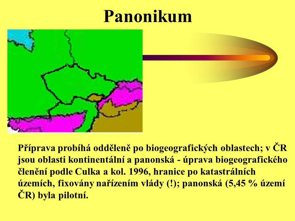 Panonikum Příprava probíhá odděleně po biogeografických oblastech; v ČR jsou oblasti kontinentální a panonská - úprava biogeografického členění podle