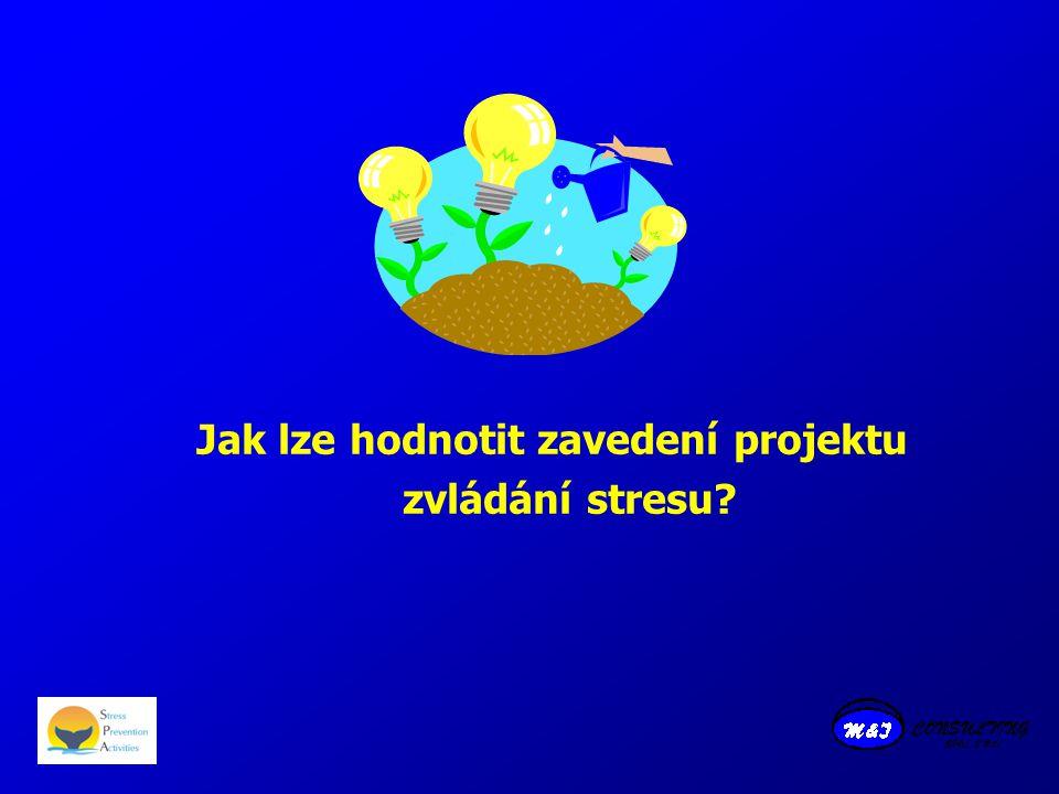 Jak lze hodnotit zavedení projektu zvládání stresu?