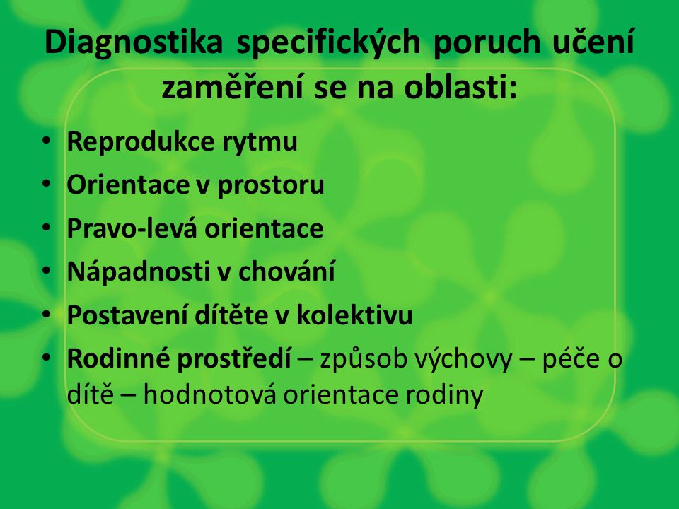 Diagnostika SPU v 1.