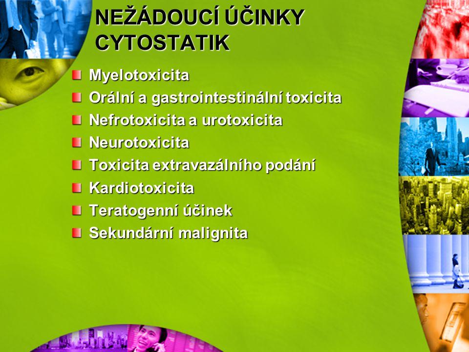 HLAVNÍ SKUPINY CYTOSTATIK ANTIBIOTIKA: cytostatický účinek na DNA v jádře, antracykliny, bleomycin, toxické účinky: kardiotoxické. HORMONY: vazba na r