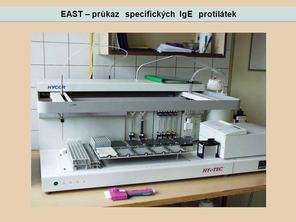 EAST – průkaz specifických IgE protilátek