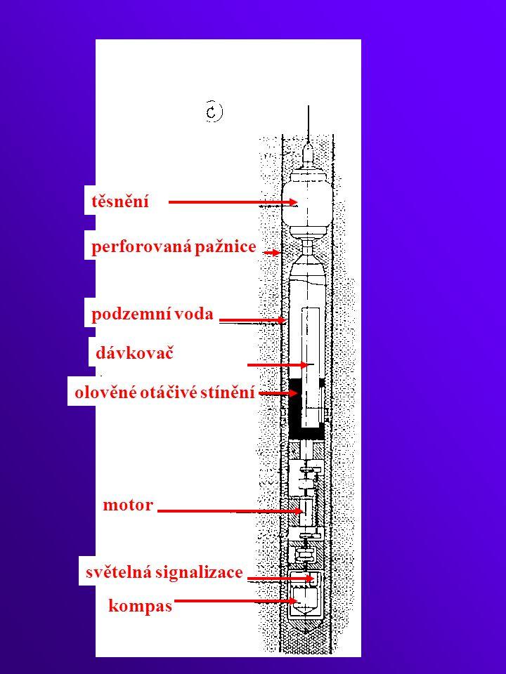 těsnění perforovaná pažnice podzemní voda dávkovač olověné otáčivé stínění motor světelná signalizace kompas