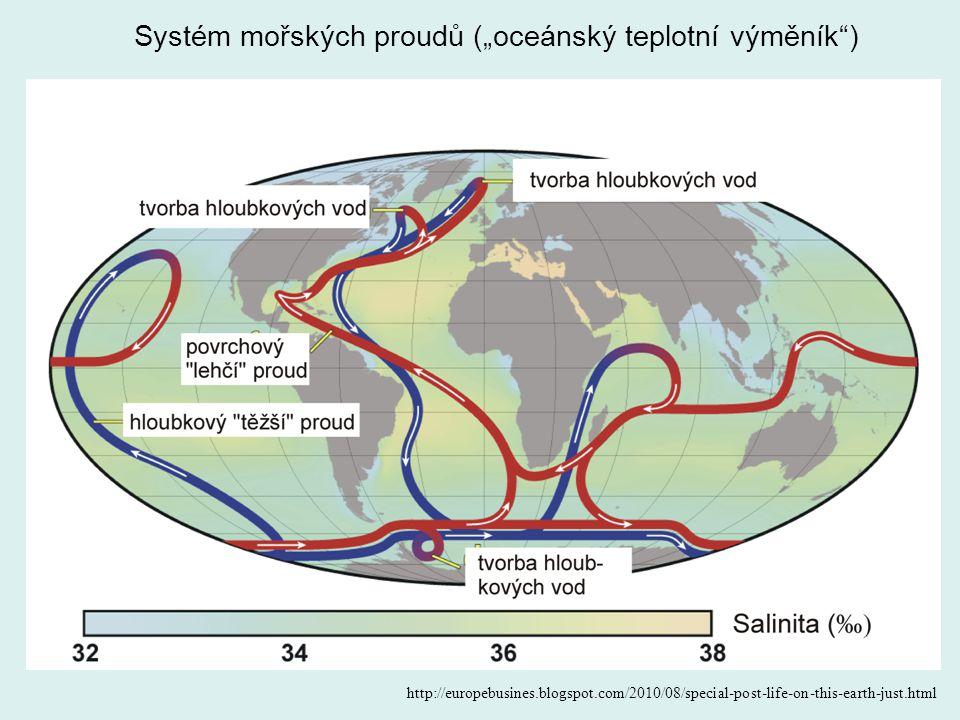 """Systém mořských proudů (""""oceánský teplotní výměník"""") http://europebusines.blogspot.com/2010/08/special-post-life-on-this-earth-just.html"""