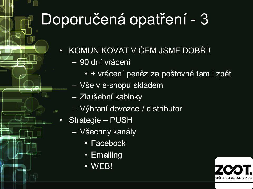 Doporučená opatření - 3 KOMUNIKOVAT V ČEM JSME DOBŘÍ.