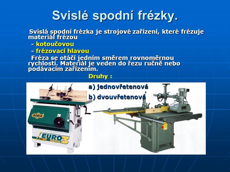 Svislé spodní frézky. Svislá spodní frézka je strojové zařízení, které frézuje materiál frézou Svislá spodní frézka je strojové zařízení, které frézuj