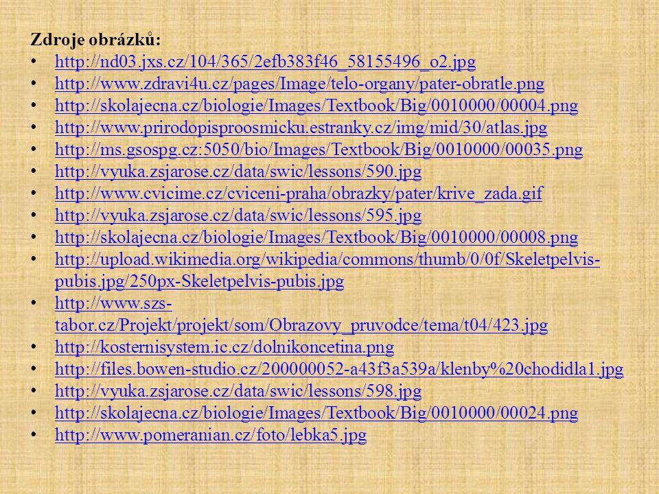 Zdroje obrázků: http://nd03.jxs.cz/104/365/2efb383f46_58155496_o2.jpg http://www.zdravi4u.cz/pages/Image/telo-organy/pater-obratle.png http://skolajec