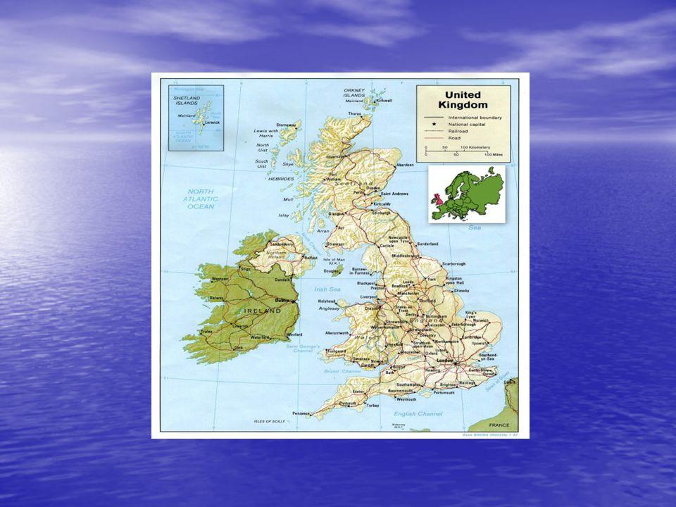 POVRCH POVRCH členitý povrch členitý povrch Kaledonské hory Kaledonské hory pohoří Grampiany odděleny Kaledonským průplavem pohoří Grampiany odděleny Kaledonským průplavem Ben Nevis (1343 m)- nejvyšší hora Ben Nevis (1343 m)- nejvyšší hora Kumbrické hory (978 m) Kumbrické hory (978 m) Vřesoviště :Yourkshirské Vřesoviště :Yourkshirské Dartmoor Dartmoor Exmoor Exmoor nejhornatější oblastí - Wales nejhornatější oblastí - Wales
