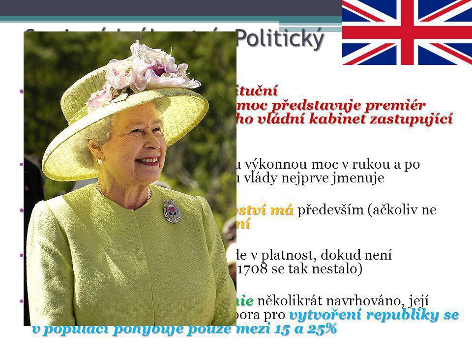 """Spojené království- Politický systém Spojené království je konstituční monarchií jehož výkonnou moc představuje premiér (""""The Prime Minister"""") a jeho"""