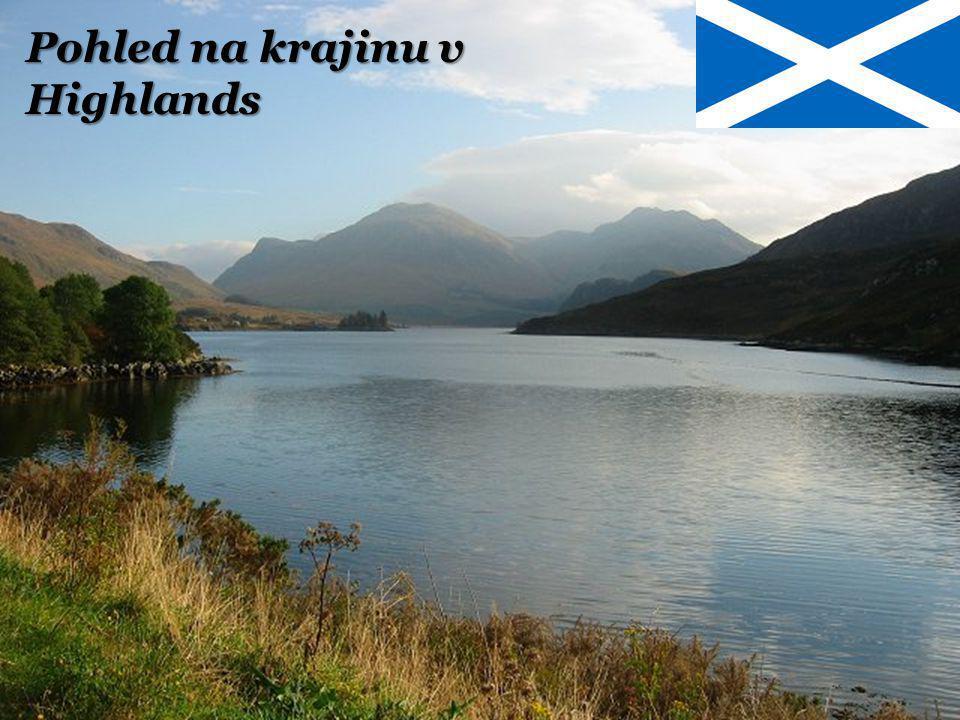 Pohled na krajinu v Highlands