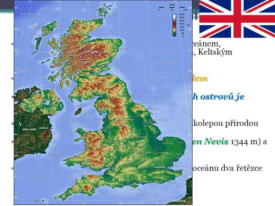 Spojené království – přírodní podmínky Spojené království je ohraničeno Atlantským oceánem, resp. Severním mořem, Lamanšským průlivem, Keltským mořem,