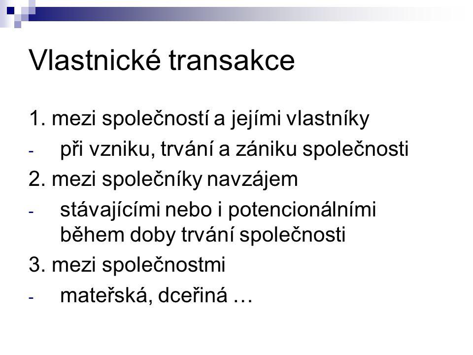 Vlastnické transakce 1.