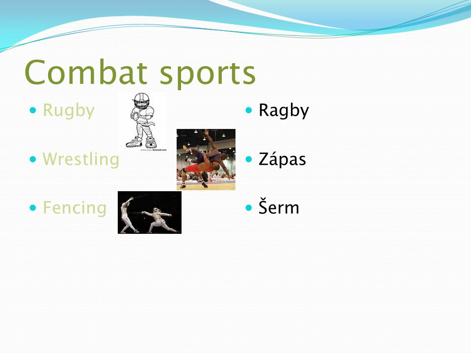 Combat sports Rugby Wrestling Fencing Ragby Zápas Šerm