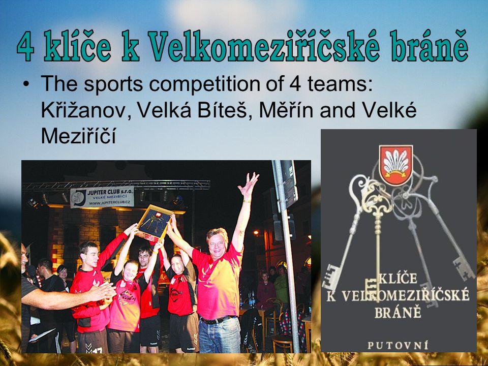 The sports competition of 4 teams: Křižanov, Velká Bíteš, Měřín and Velké Meziříčí