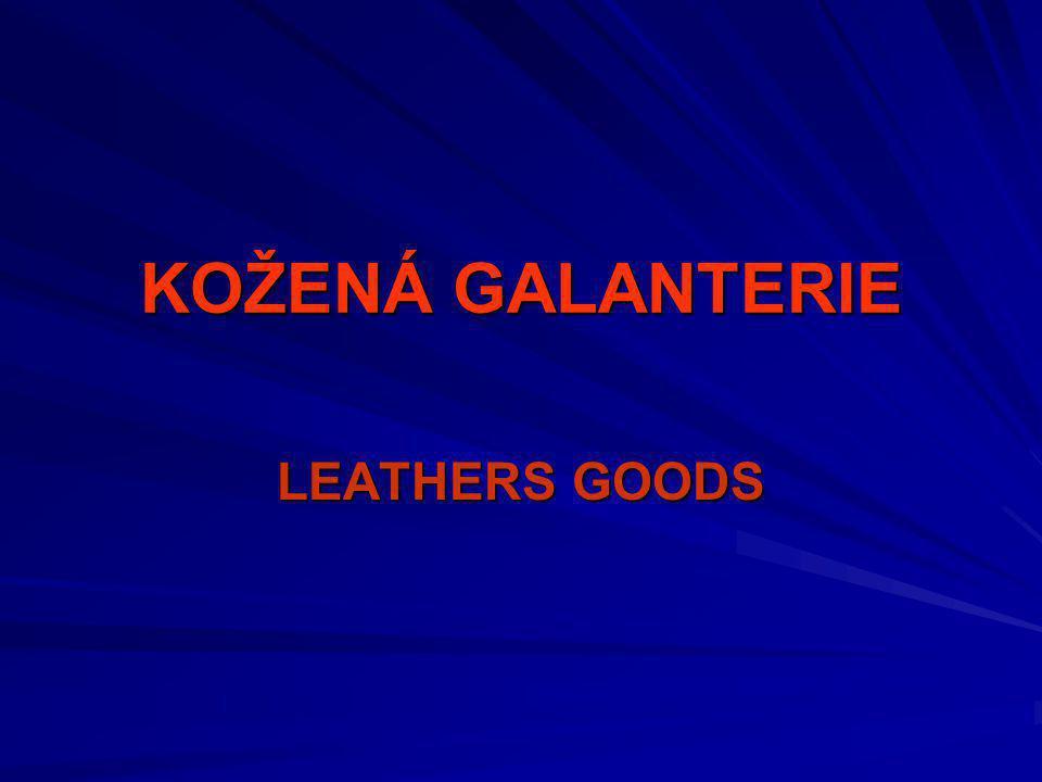 KOŽENÁ GALANTERIE-LEATHERS GOODS ODĚVY-CLOTHING SPORTOVNÍ POTŘEBY-SPORTS EQUIPMENT ZBOŽI Z USNÍ – OBUV-LEATHER GOODS/FOOTWEAR MATERIÁL DEKORAČNÍ-DECOR