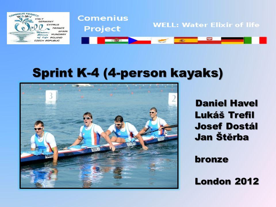 Sprint K-4 (4-person kayaks) Daniel Havel Daniel Havel Lukáš Trefil Lukáš Trefil Josef Dostál Josef Dostál Jan Štěrba Jan Štěrba bronze bronze London 2012 London 2012
