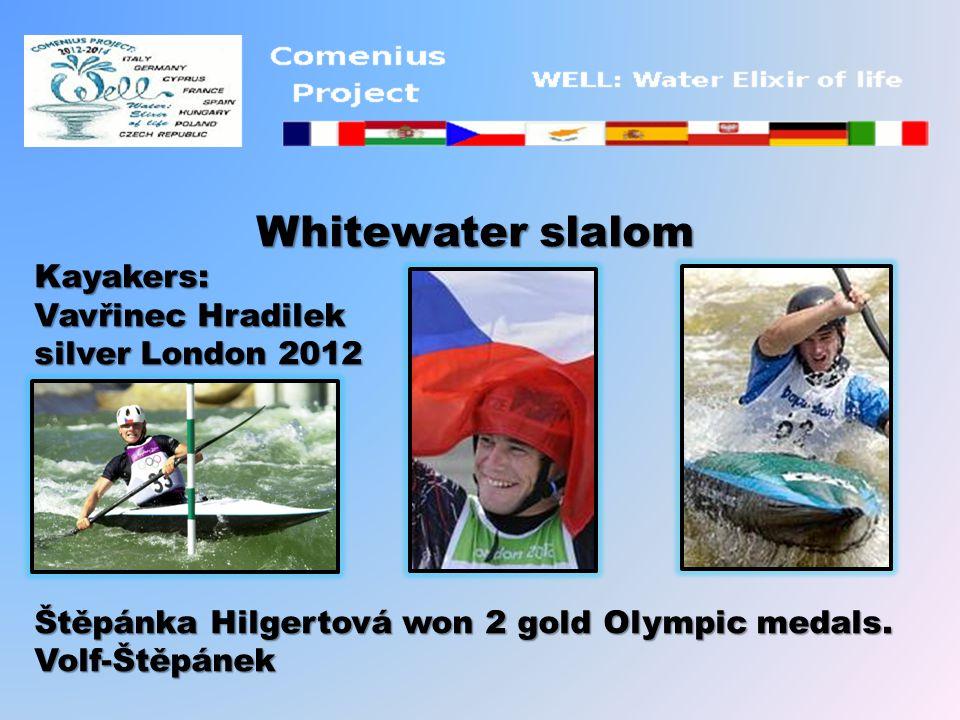Whitewater slalom Kayakers: Vavřinec Hradilek silver London 2012 Štěpánka Hilgertová won 2 gold Olympic medals.