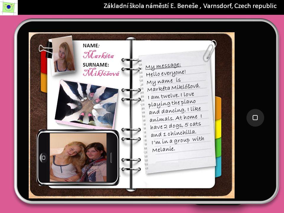 iPad 19.56 88% NAME: Dominik SURNAME: Kvapil My message: Hello.