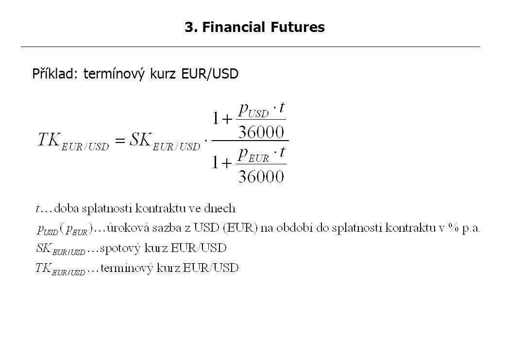 Příklad: termínový kurz EUR/USD 3. Financial Futures
