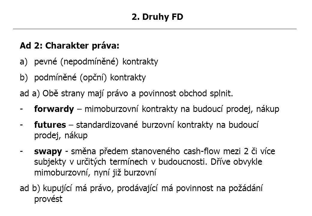 2.Forward Forwardový kurz: relativní odchylka for.