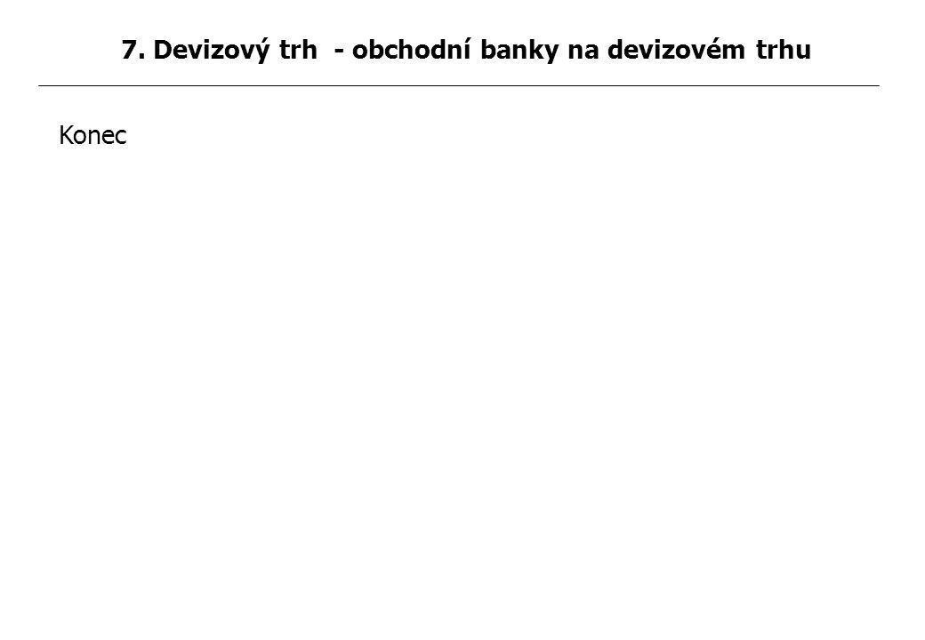 Konec 7. Devizový trh - obchodní banky na devizovém trhu