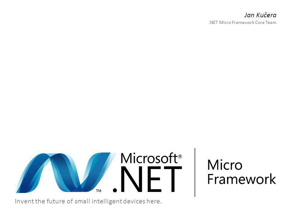 Microsoft.NET Micro Framework Práce se vstupy a výstupy Microsoft.SPOT.Hardware.PWM - frekvence a střída / perioda a doba - synchronní spuštění a vypnutí - možnost inverze // Microsoft.SPOT.Hardware.PWM.dll PWM pwm1 = new PWM(Cpu.PWMChannel.PWM_0, frequency_Hz, dutyCycle, invert); PWM pwm2 = new PWM(Cpu.PWMChannel.PWM_1, period, duration, scale, invert); pwm1.Start(); pwm1.Stop(); PWM.Start(new [] { pwm1, pwm2 });