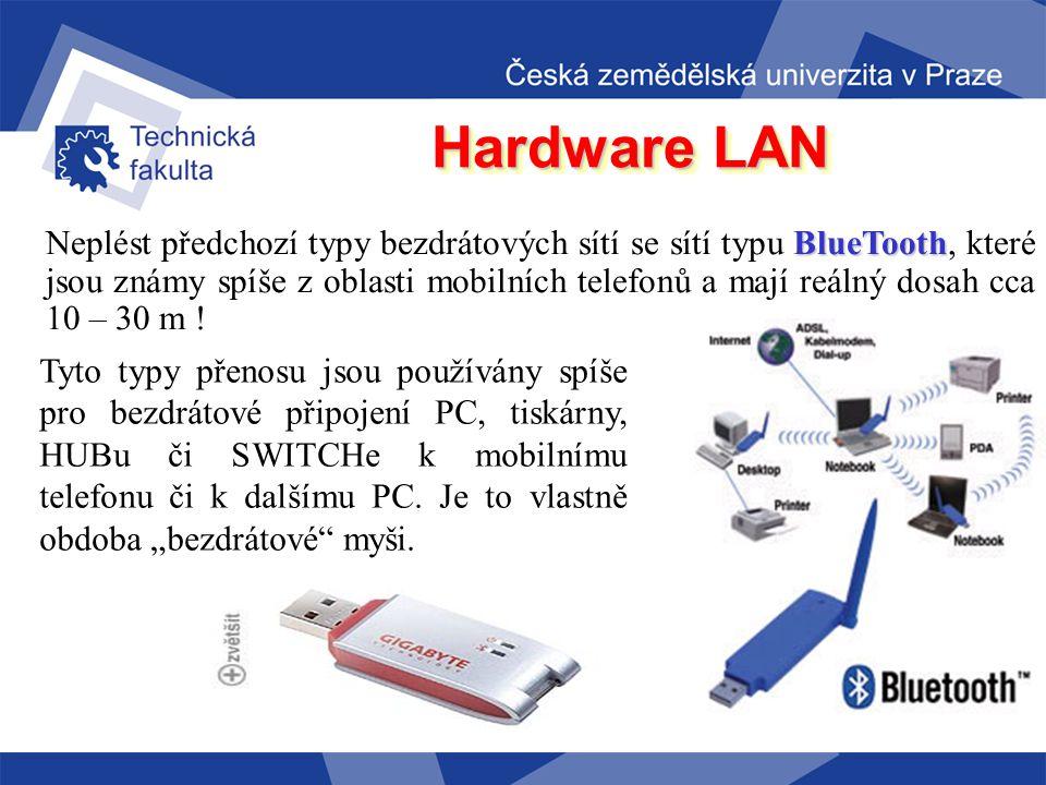 Hardware LAN Velice populární jsou například produkty firmy Ovislink či Asus, které jsou rovněž cenově velice příznivé.
