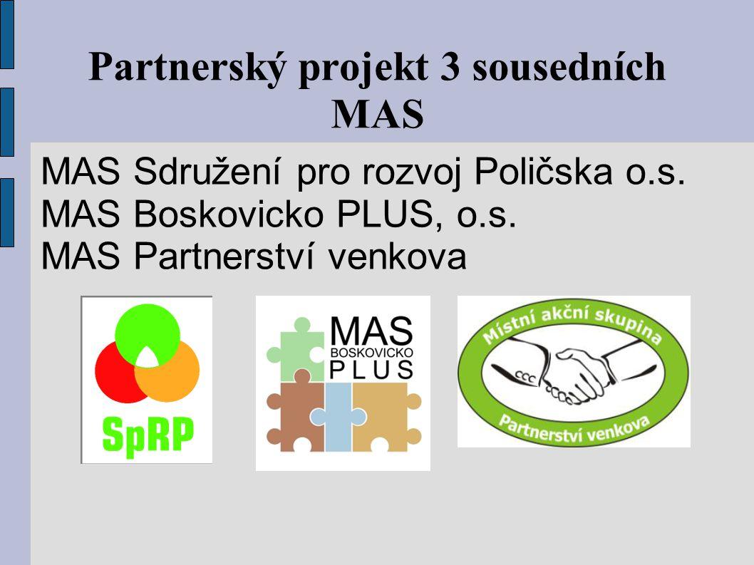 Partnerský projekt 3 sousedních MAS MAS Sdružení pro rozvoj Poličska o.s.