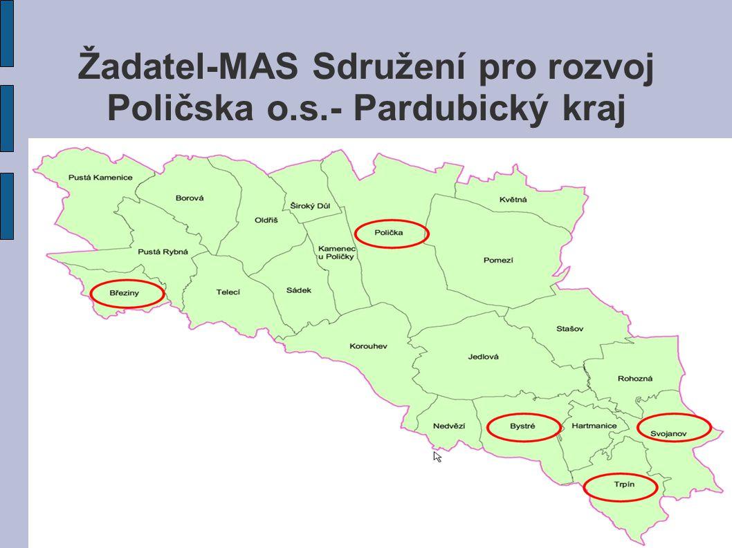 Žadatel-MAS Sdružení pro rozvoj Poličska o.s.- Pardubický kraj