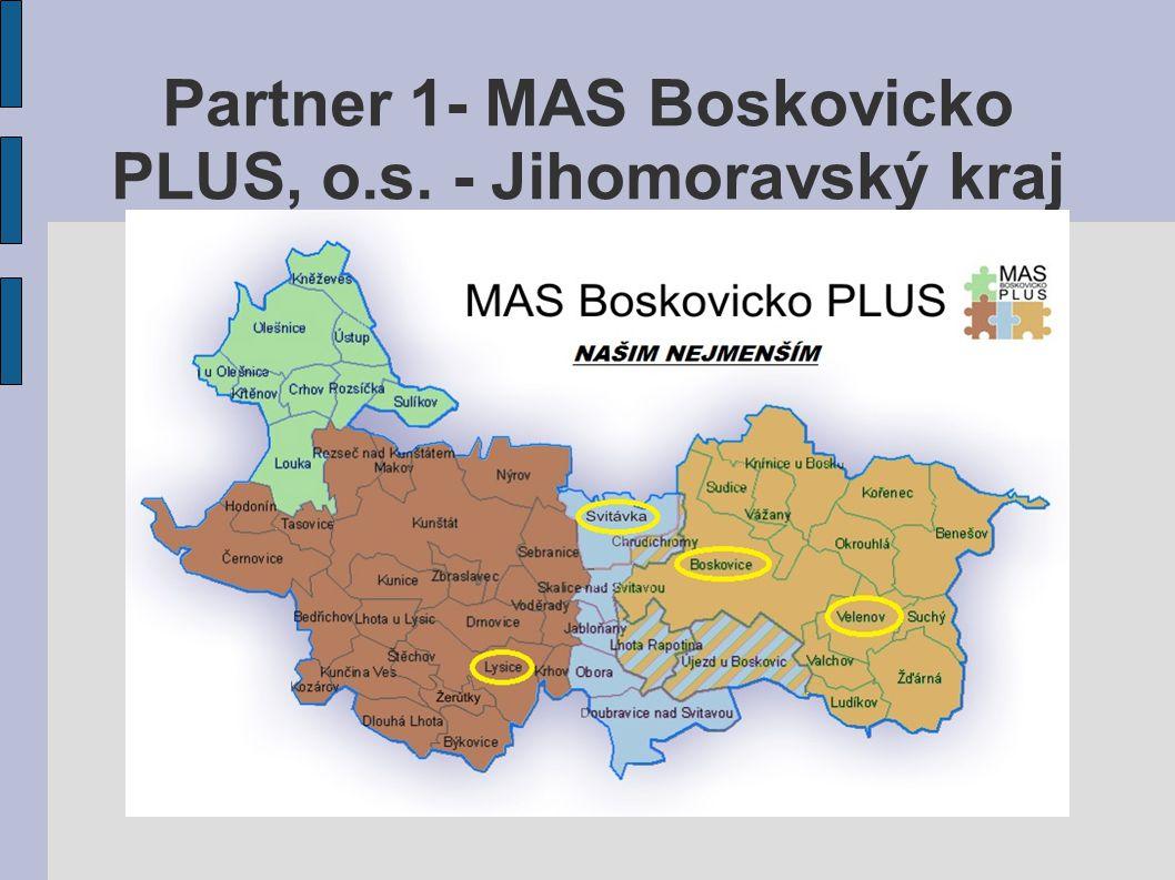 Partner 1- MAS Boskovicko PLUS, o.s. - Jihomoravský kraj