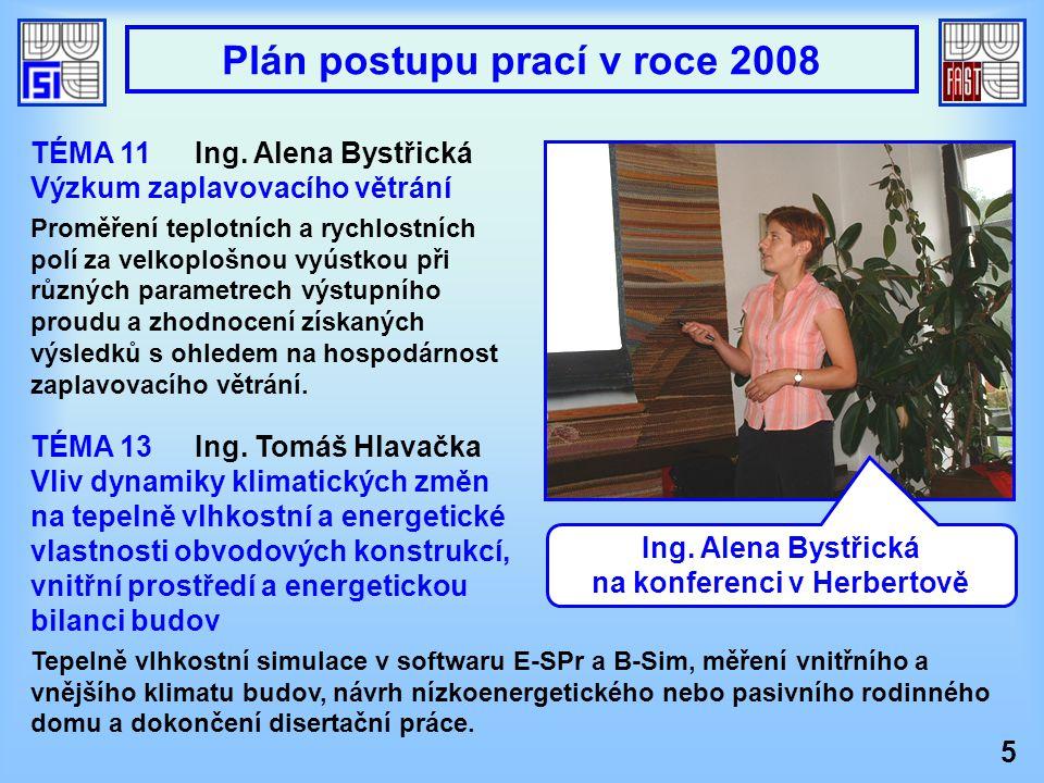 TÉMA 13Ing. Tomáš Hlavačka Vliv dynamiky klimatických změn na tepelně vlhkostní a energetické vlastnosti obvodových konstrukcí, vnitřní prostředí a en