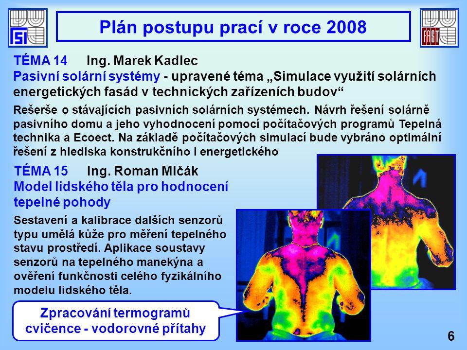 """6 TÉMA 14Ing. Marek Kadlec Pasivní solární systémy - upravené téma """"Simulace využití solárních energetických fasád v technických zařízeních budov"""" Reš"""