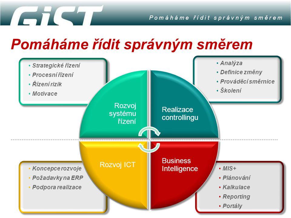Koncepce rozvoje Požadavky na ERP Podpora realizace Strategické řízení Procesní řízení Řízení rizik Motivace MIS+ Plánování Kalkulace Reporting Portál