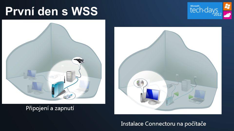 První den s WSS Připojení a zapnutí Instalace Connectoru na počítače