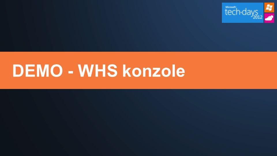 DEMO - WHS konzole