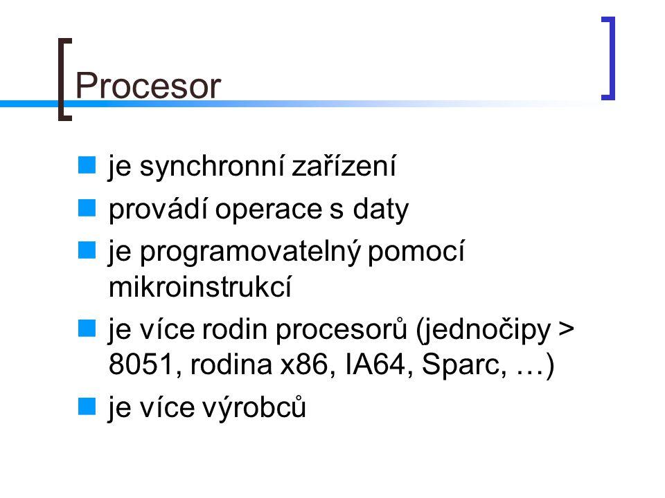 Rychlost procesoru interní rychlost procesoru je součinem FSB * multiplikátor celý počítač pracuje synchronně s hodinovým signálem